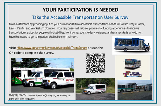 Take the Accessible Transportation User Survey
